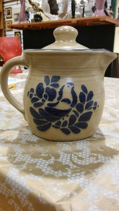 Pfaltzgraff Folk Art Teapot by kreativekraftz on Etsy