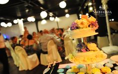 Wedding Cup Cakes in Place of a Traditional Wedding Cake. Everyone Loves Them!