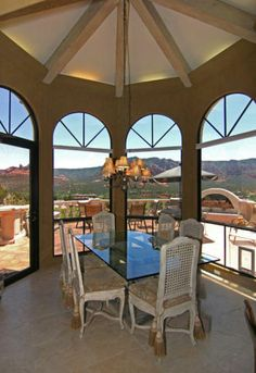 Dining in Sedona home...