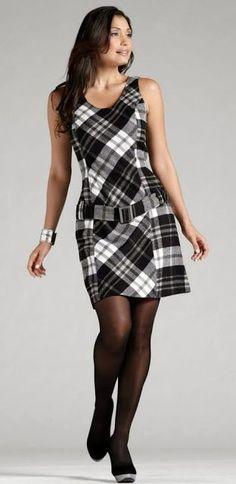 Vestido xadrez maravilhoso!