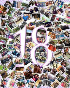 #cuadro #collage #regalo #cumpleaños #felices18
