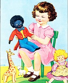 How the Golliwog went from innocent children's hero to symbol of bitter controversy.Book character: A golliwog cartoon from a fifties children's book Vintage Children's Books, Vintage Toys, Vintage Posters, Hero Symbol, Innocent Child, Black Artwork, My Childhood Memories, Childhood Friends, Shabby