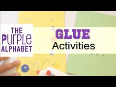 Preschool Fine Motor Learning Activities with Glue