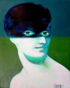 Original Portrait Painting by Victor Tkachenko Eye Painting, Acrylic Painting Canvas, Canvas Art, Original Paintings, Original Art, Alberto Giacometti, Green Man, Fantasy Artwork, Medium Art