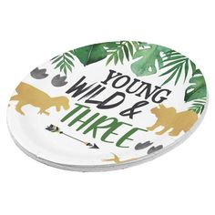 3rd Birthday Boys, Birthday Parties, Party Plates, Party Tableware, Dinosaur Cakes For Boys, Pesto Chicken, Cake Servings, Biodegradable Products, Custom Design