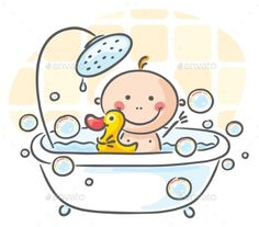 Baby in the Bath - People Characters