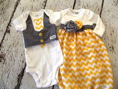 Hey, I found this really awesome Etsy listing at https://www.etsy.com/listing/182576722/twin-set-for-baby-girl-and-boy-in-yellow