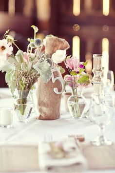 Love this table number and decor!