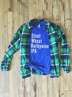 Stout Wheat Barleywine IPA - Beer List Tee by Folklore Couture #craftbeer