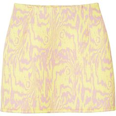 Monki Ellie scuba skirt (66 ILS) ❤ liked on Polyvore featuring skirts, bottoms, pink timber, a line mini skirt, pattern a line skirt, beige skirt, pink skirt and pink mini skirt