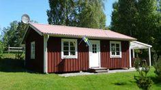 Lyckan. Modernes Haus auf der Insel Sirkön im Binnensee Åsnen. Urshult, Tingsryd, Smaland, Schweden