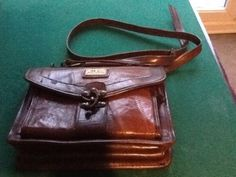 Marc Chantal Handbag Brown Leather Handle Or Over Shoulder Strap