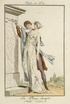 Philibert-Louis Debucourt | Modes et Manières du Jour, 1799-1800, No. 14 : La Phrase changée. (Robe croisée), Philibert-Louis Debucourt, 1799 - 1800 |