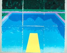 Pool with Cloud Reflections,1978colored and pressed paper pulp,72x851/2in.
