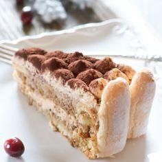 A creamy dulce de leche frosting in between moist coffee sponge cake layers.