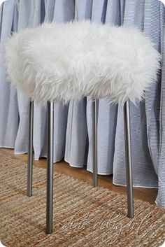 Make It: A Stylish DIY Fur Stool for Under $30 | Stools, Fur and Craft