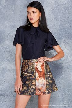 Into The Labyrinth A-Line Skirt - 48HR ($70AUD) by BlackMilk Clothing
