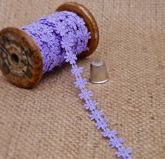 NEW Lilac Daisy Guipure Lace M343 Haberdashery, Lace Fabric, Lilac, Ethnic, Daisy, Ribbon, Colours, Boho, Bridal