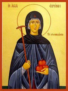 Today, we honour Saint Irene Chrysovolantou of Cappadocia. Religious Icons, Religious Art, Orthodox Christianity, Russian Orthodox, Name Day, Orthodox Icons, Christian Faith, Saints, Prayers