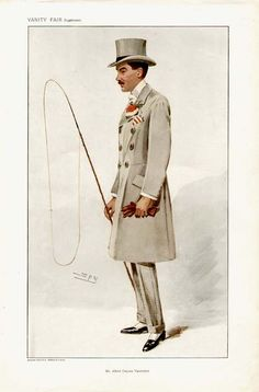 Vanderbilt caricatured by Spy for Vanity Fair, 1907