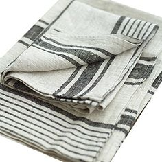 LinenMe Linen Provence Hand and Guest Towels, 18 by 28-Inch, Natural Black Striped, Set of 2  $28.99 eligible for free shipping (Prime) - http://www.amazon.com/gp/product/B009N49ZRS/ref=as_li_tl?ie=UTF8&camp=1789&creative=390957&creativeASIN=B009N49ZRS&linkCode=as2&tag=linenandlaven-20&linkId=JDZOMU5BEZM3U4ZV