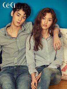 Eunwoo (Astro) & Kim Doyeon - Céci Magazine March Issue '17