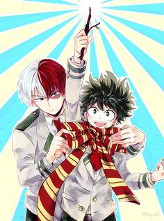 Boku no Hero Academia x Harry Potter    Todoroki Shouto, Midoriya Izuku.