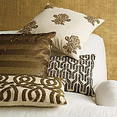 Beaded Highland Knot Pillow Cover – Gold #serenaandlily