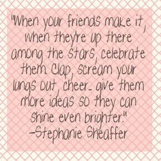 Cheer on your friends successes!
