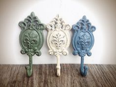 Sage Green and Slate Blue | BOLD sage green ivory & slate blue grey shabby chic oval floral ornate ...