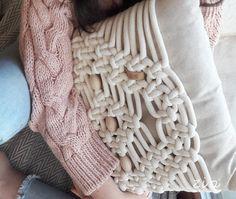 macrame pillow Zen Bed, Decoration Bedroom, Bed Runner, Handmade Home, Merino Wool Blanket, Modern Design, Traditional, Pillows, Unique