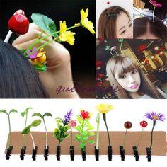 15pcs Women Cute Headwear Girls Flower Plant Grass Antenna Hair Clip Hairpin Q    eBay