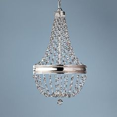 "Feiss Malia 16"" Wide Polished Nickel Pendant Light"