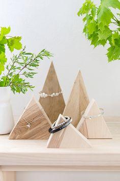 s i n n e n r a u s c h: [Das Beste aus Resten] Holzpyramiden zur Schmuckaufbewahrung