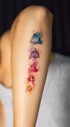 Colorful Geometric Tattoo