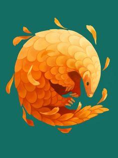November - Calendula - A gallery-quality illustration art print by Heather Penn for sale. Animal Drawings, Cute Drawings, Tag Art, Art Graphique, Anime Kawaii, Grafik Design, Creature Design, Fantasy Creatures, Cute Art