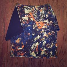 Beautiful designer mini skirt! Cut 25 multi colored skirt NEVER WORN. Size zero but fits more like a 2. Protection still on zipper in perfect condition. Wear in summer or winter with boots! Cut25 by Yigal Azrouel Skirts Mini