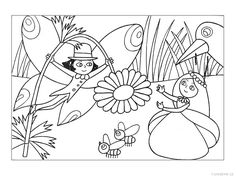 omalovánka pohádky - Hledat Googlem Applique Designs, Coloring Pages For Kids, Fairy Tales, Sketches, Fun, Czech Republic, Index Cards, Colors, Kitchens