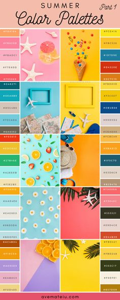 20 Summer Color Palettes and Hex Codes - color combination, color inspiration, color palette, color Summer Color Palettes, Pantone Colour Palettes, Color Schemes Colour Palettes, Summer Colors, Pantone Color, Color Combos, Popular Color Schemes, Couleur Hexadecimal, Web Minimalista