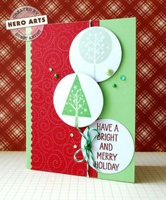 Hero Arts Cardmaking Idea: Bright and Merry Holiday
