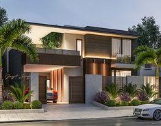 New House Facade Render Exterior Design Ideas House Front Design, Modern House Design, Minimalist House Design, Modern Exterior, Exterior Design, Contemporary Architecture, Interior Architecture, Modern Contemporary House, Modern Zen House