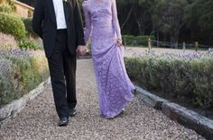 gorgeous lavender second dress in this DIY meets art deco wedding in New Zealand