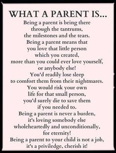 Too bad all parents don't feel this way about their own kids...