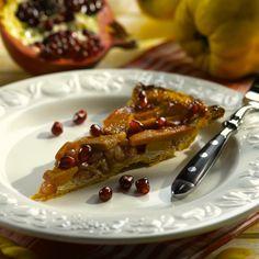 Gestürzte Quitten-Granatapfel-Tarte