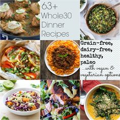 63+ Whole30 Dinner Recipes | TheRoastedRoot.net #newyear #healthy #glutenfree #paleo