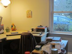 Office is still the worst room, but much more opened up.  Only 3 desks and 1 4-drawer file cabinet to remove now!