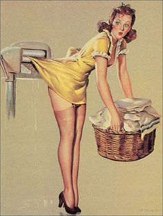 pin up, laundry