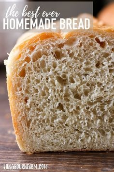 This is the best homemade bread recipe! The bread is soft and airy with a perfect buttery crust. It will turn out every time you make it. Try it today! #bread #homemadebread #bakingbread #bakingday #fromscratch #breadfromscratch #homemade #howtobake #howtobakebread