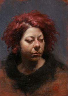 Florence Academy of Art, School of fine arts Italy portrait by Jennifer Gennari