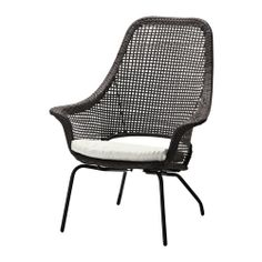AMMERÖ Armchair With Pad IKEA Hand Woven Plastic Rattan, With The Same  Expressions As Natural